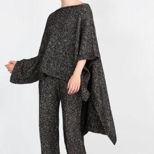 Zara Knit Italian Yarn Cape Poncho Sz  M